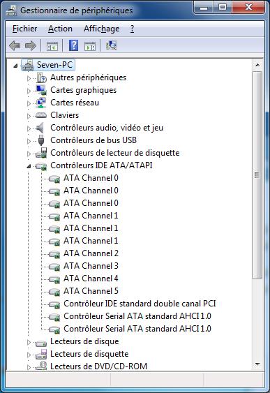 STANDARD CONTROLEUR TÉLÉCHARGER PILOTE 1.0 ATA SERIAL AHCI