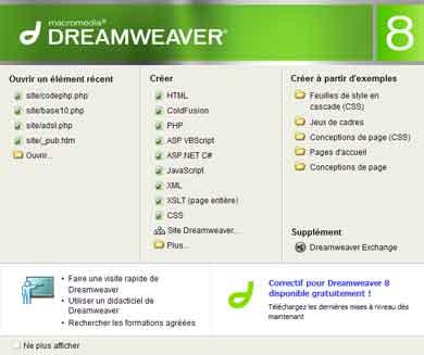 MACROMEDIA GRATUITEMENT 8 TÉLÉCHARGER DREAMWEAVER
