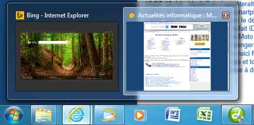 Internet Explorer : menu droit sous Windows 7