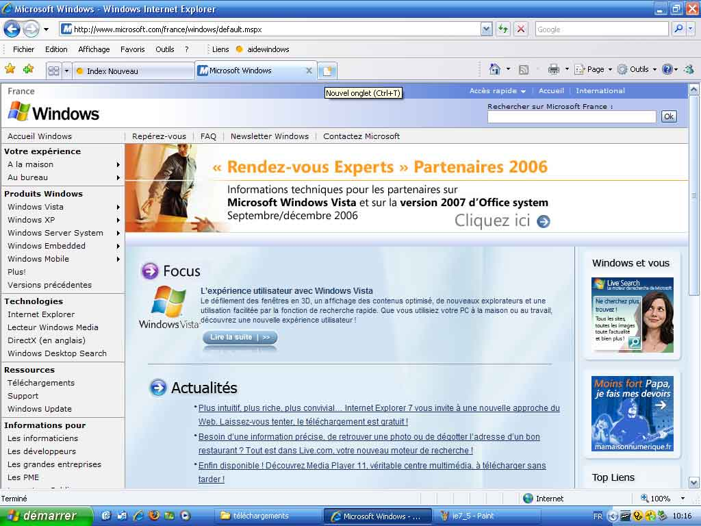 Internet explorer versions et mises jour for Probleme ouverture fenetre internet explorer