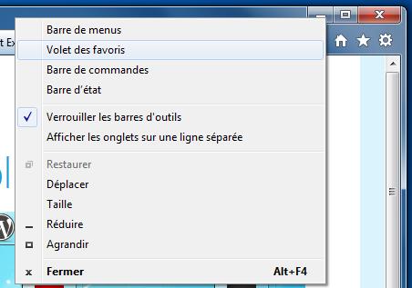 Internet explorer 9 pr sentation et configuration for Fenetre windows outils