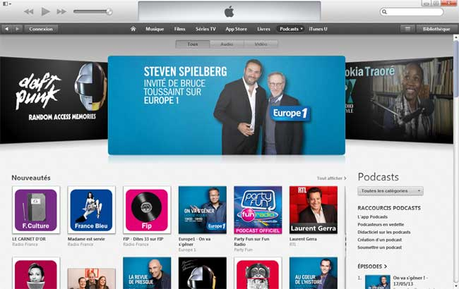 Itunes store podcasts