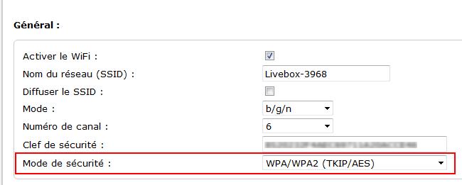 réseau ssid wifi