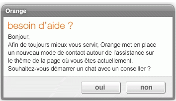 Assistance orange livebox chat