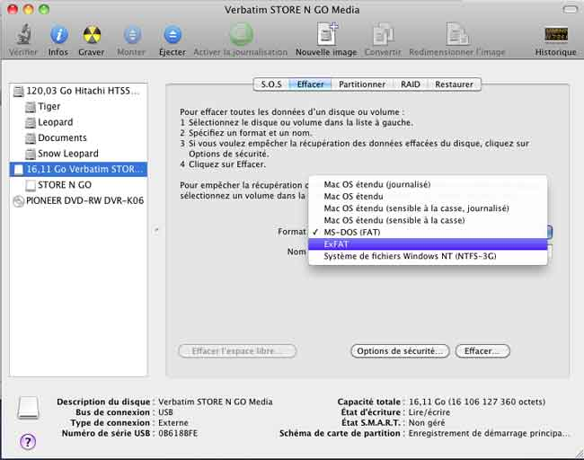how to format a drive as exfat on mac