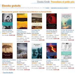 Amazon : Ebooks gratuits