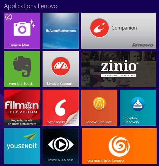 Applications Lenovo