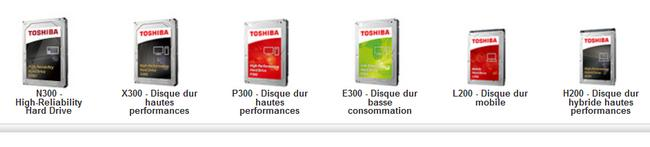 Toshiba : gamme disques durs internes