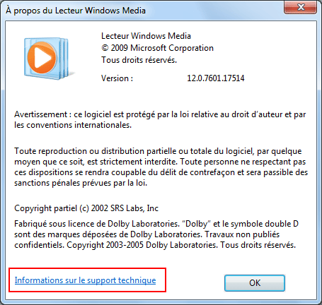 Lecteur Windows Media