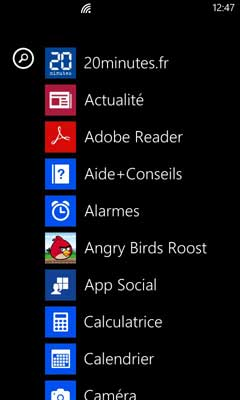 Windows Phone : Applications