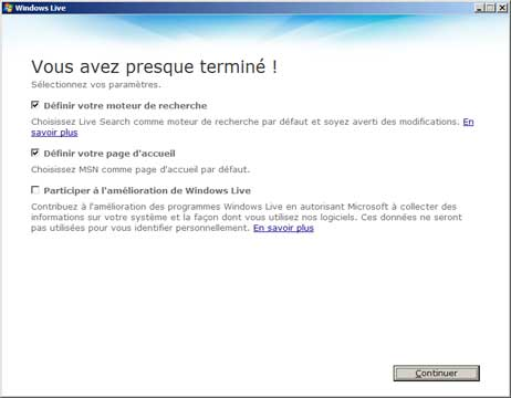 Mise à jour vers Windows Live Messenger 2