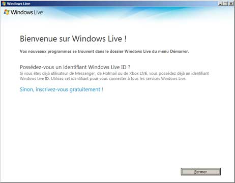 Mise à jour vers Windows Live Messenger 3