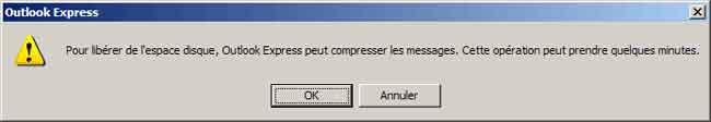 Compresser les messages Outlook Express