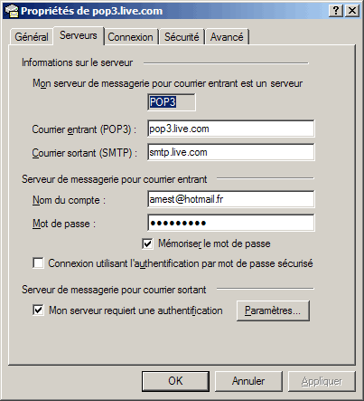 Outlook Express Configurer Une Adresse Mail