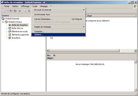 Outlook Express : votre nom