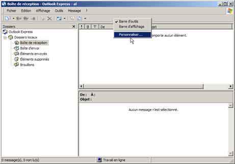 Outlook Express : Propriétés