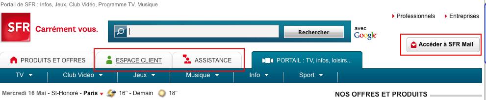 gérer adresse mail sfr
