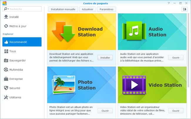 DSM5 - Installation des applications principales