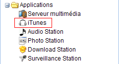 Menu Applications, iTunes