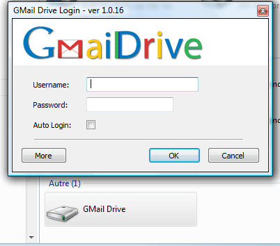 GMail Drive login