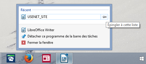 Windows 8 : Epingler à la barre des tâches