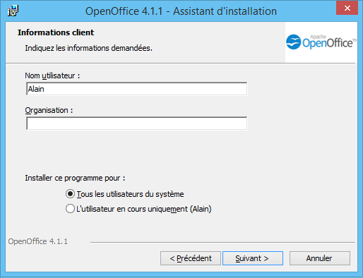 OpenOffice Installation 3