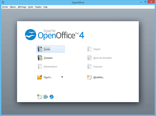 OpenOffice ouverture