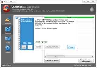 Ccleaner : Nettoyer registre