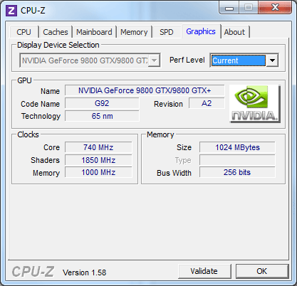 CPU-Z : Graphics