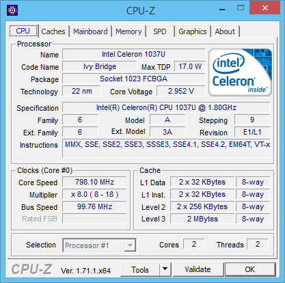 CPU-Z : Intel Core i5