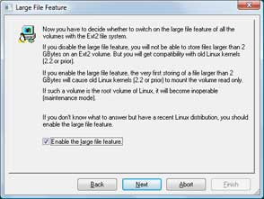 Enable Large Files