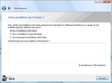 Utilisation de Microsoft Fix it Center Online