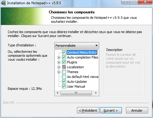 Notepad++ : installation