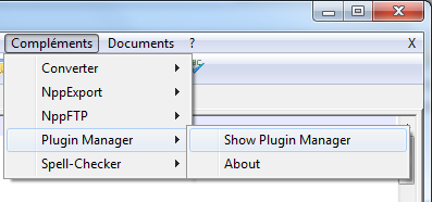 Notepad++ : installation d'un plugin