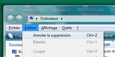 Annuler dans Windows Vista