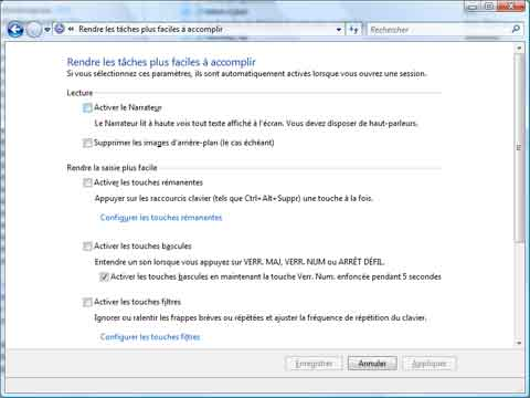 Désactiver le narrateur (Windows Vista)