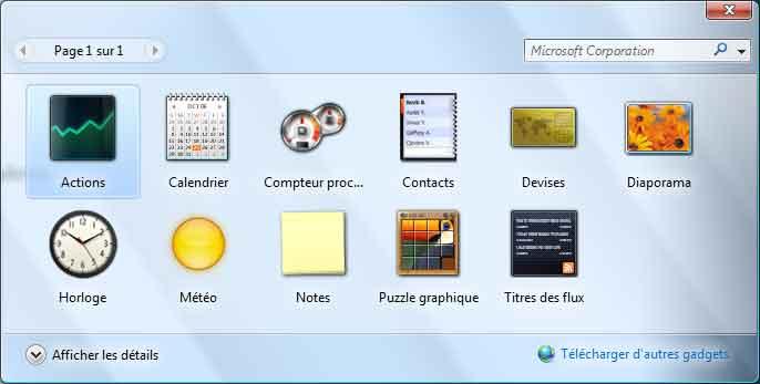 volet windows les gadgets windows vista aidewindows net