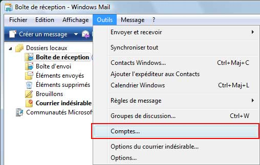 Forums Microsoft avec Windows Mail