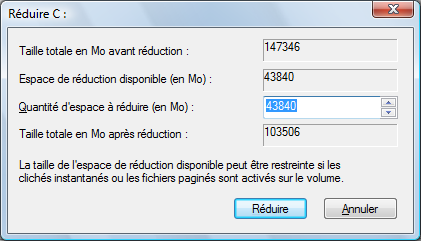 Partitionner sous Windows Vista