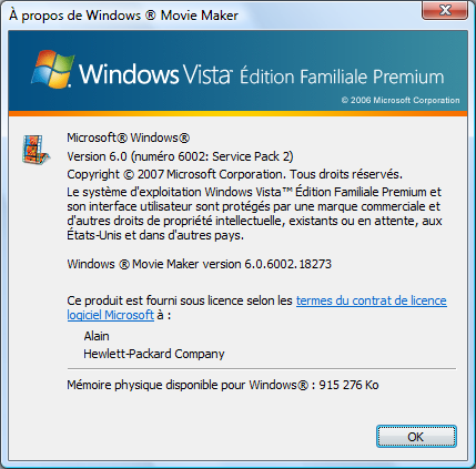 Windows Movie Maker sous Windows Vista