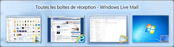 Windows 7 : Fenêtre active