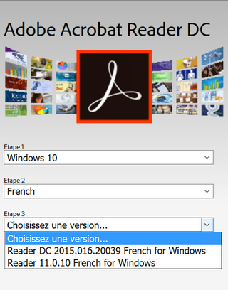 Adobe Reader sous Windows 7, 8 et 10