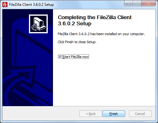 FileZilla : Installation