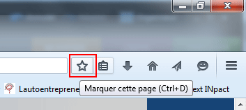 Firefox : marque-pages
