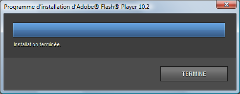 Mise à jour Flash Player