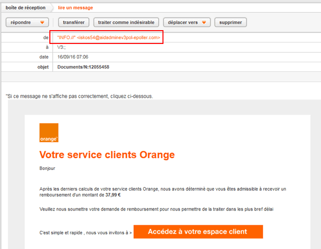 Phishing Orange