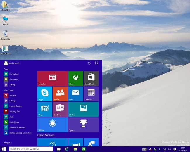 Windows 10 - Le Bureau