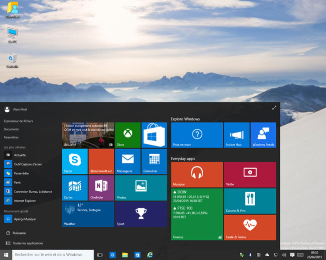 Windows 10 - build 10061