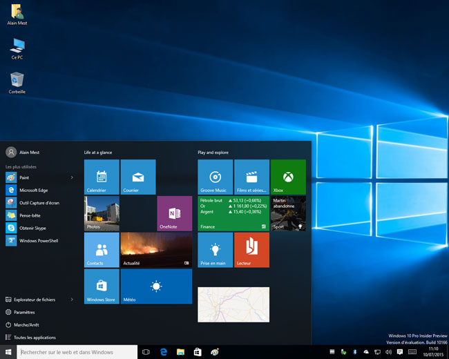 Windows 10 - Build 10166