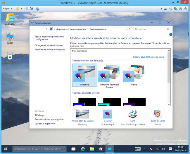 Windows 10 - Icones Bureau